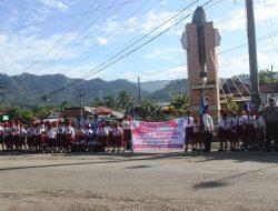 Ribuan Pelajar di Sibolga dan Tapteng Sambut Kedatangan Presiden Jokowi