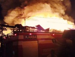 Tragis, Satu Orang Hangus Terbakar di Pasar Belakang