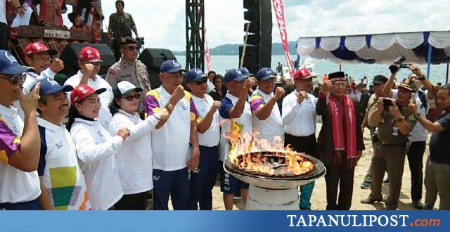 Obor Asian Games 2018 Berkobar Di Pantai Lumban Bulbul