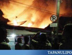 Kebakaran Hebat Hanguskan 43 Rumah di Sibolga