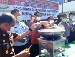 1.188, 397 Gram Sabu-sabu Dilarutkan dalam Air Panas di Sibolga