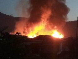Peristiwa Kebakaran Terjadi di Pasir Bidang Sibolga