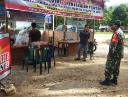 Babinsa Koramil 05/Tanah Pinem Bersama Gugus Tugas COVID-19 Gencar Lakukan Pengawasan