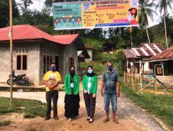 Dua Mahasiswi KKN Unimal Lakukan Hal Ini Cegah COVID-19 di Desa Sipan