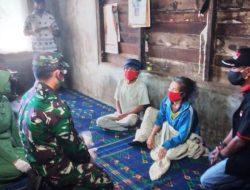 Dandim 0206/Dairi Berikan Sembako ke Warga Kurang Mampu di Desa Belang Malum