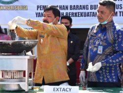 Peringati HANI, Wakil Wali Kota Sibolga Turut Musnahkan Narkoba