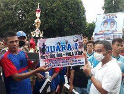 Bupati Tapteng Tutup Turnamen Bola Voli di Kecamatan Tukka