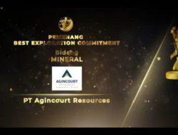 Tambang Emas Martabe Raih 3 Penghargaan Pertambangan dari Ditjen Minerba Kementerian ESDM
