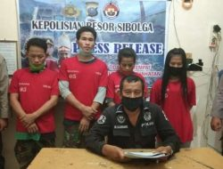 2 Pria dan 2 IRT Ditangkap Usai Pesta Sabu di Sibolga