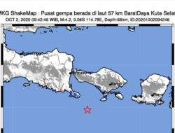 Gempa 4,2 Magnitudo Guncang Bali