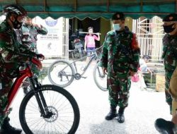 Bersepeda, Dandim 0211/TT Mengecek Kesiapan Pengamanan 184 TPS di Sibolga