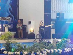 Penampilan Retta Sitorus Buka Final Lomba Trio Lagu Batak di Tapteng