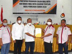 KPU Tetapkan Jamal-Pantas Wali Kota dan Wakil Wali Kota Sibolga Terpilih