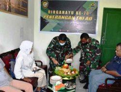 Korem 023/KS Rayakan HUT Ke-70 Penerangan TNI AD Bersama Wartawan