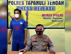 Seorang Pria Ditangkap di Samping Makam Pahlawan Sibolga