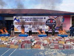 Ratusan Ribu Batang Rokok Ilegal Dimusnahkan di Sibolga