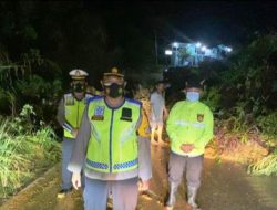 Terjadi Longsor di Jalan Lintas Manduamas-Aceh Singkil, Kapolres Tapteng Imbau Warga Tetap Waspada