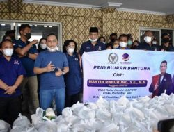 Martin Manurung Kirim 2.000 Paket Sembako ke Tapteng, Bakhtiar: Kami Bangga dengan Kader NasDem