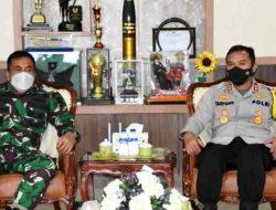 Danrem 023/KS Terima Kunjungan Kapolres Sibolga yang baru AKBP Taryono Raharja