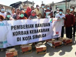 Pelindo Sibolga Bantu 43 KK Korban Kebakaran di Pasar Belakang