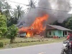 Rumah Wartawan di Tapanuli Tengah Terbakar