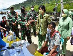Vaksinasi Dosis Kedua dan Pembagian Sembako di Pulau Mursala