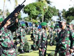 Asops Kasad Cek Kesiapan Satgas Pamtas RI-PNG Yonif 123/RW